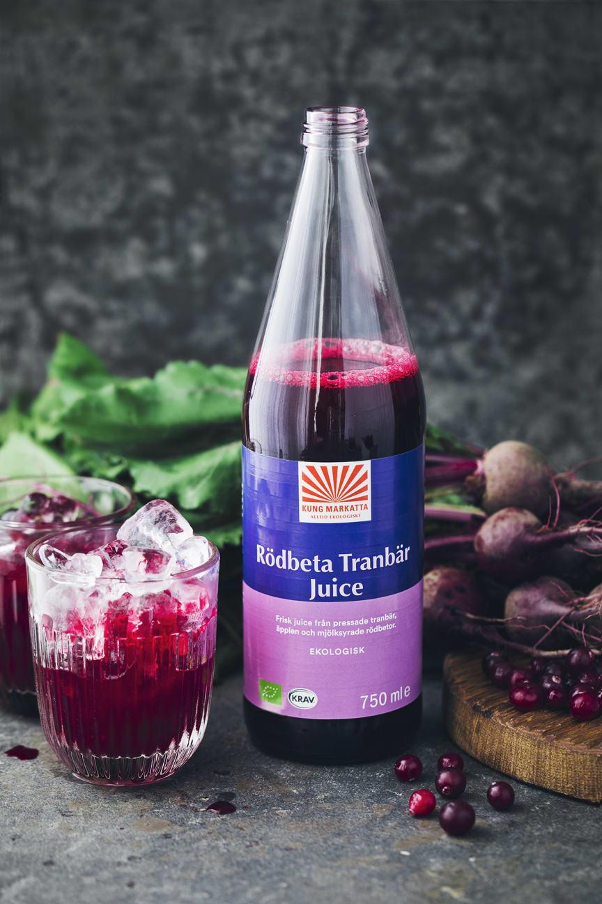 Kung Markatta Rödbeta Tranbär Juice