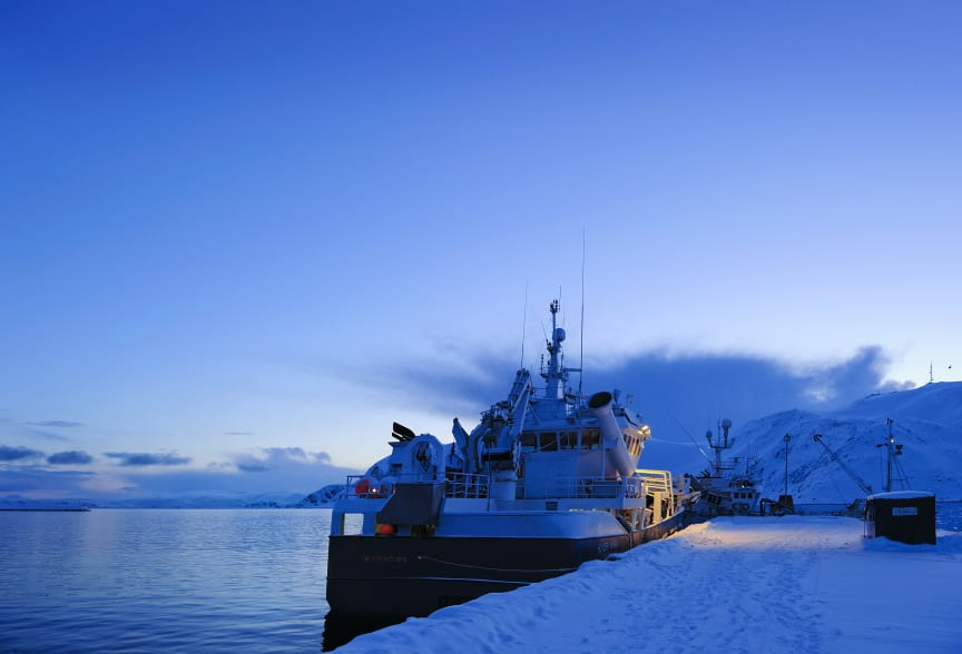 Tråler ved kai - trawler at shore