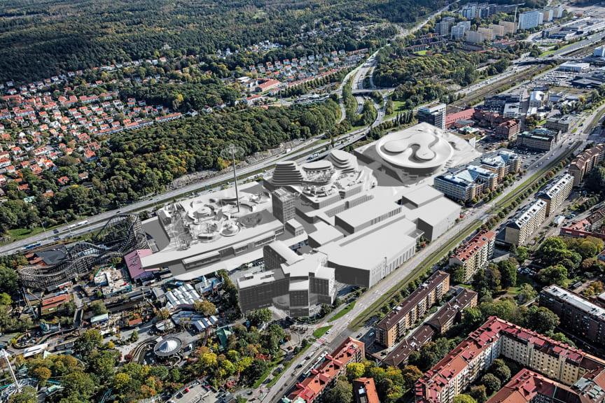 Söder om Liseberg - visionsbild