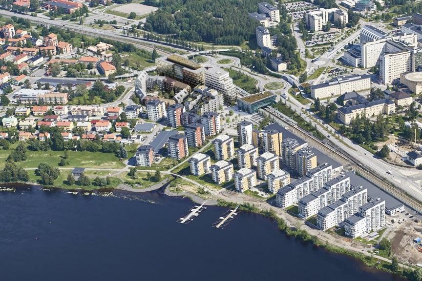 Här växer den nya stadsdelen Östra Station fram_flygfoto White.jpg