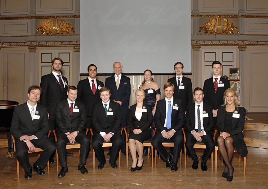 2012 års Anders Wall-stipendiater