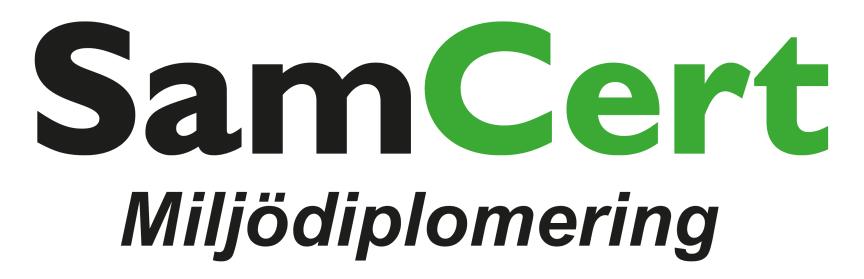 SamCert Miljödiplomering Logo