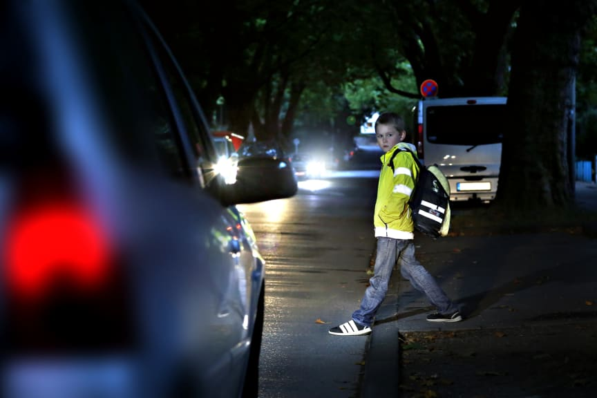 Im Straßenverkehr auf gute Sichtbarkeit achten