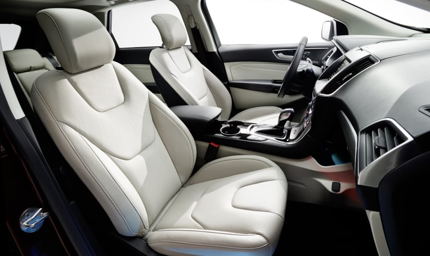 Nye Ford Edge lanseres i Norge i slutten av 2015, interiørbilde