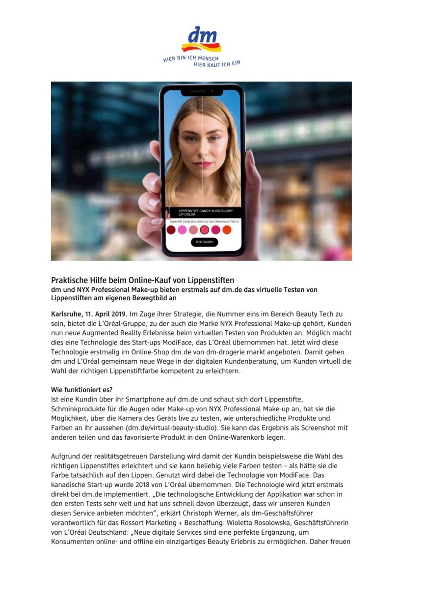 Praktische Hilfe beim Online-Kauf von Lippenstiften
