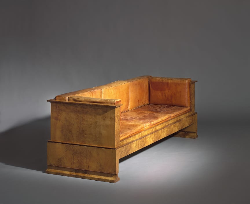 Kaare Klint: An early and unique freestanding three-seater sofa