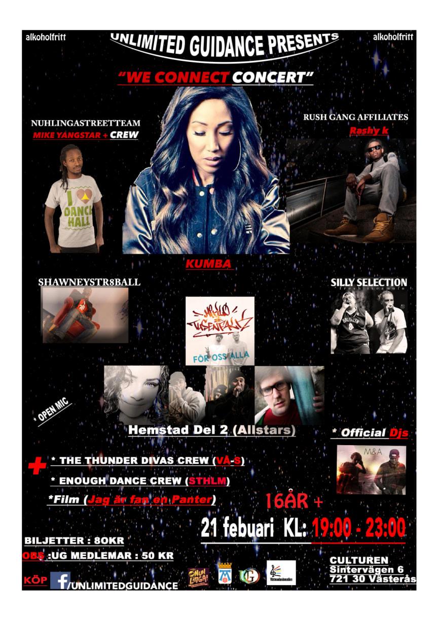We Connect Concert – affisch