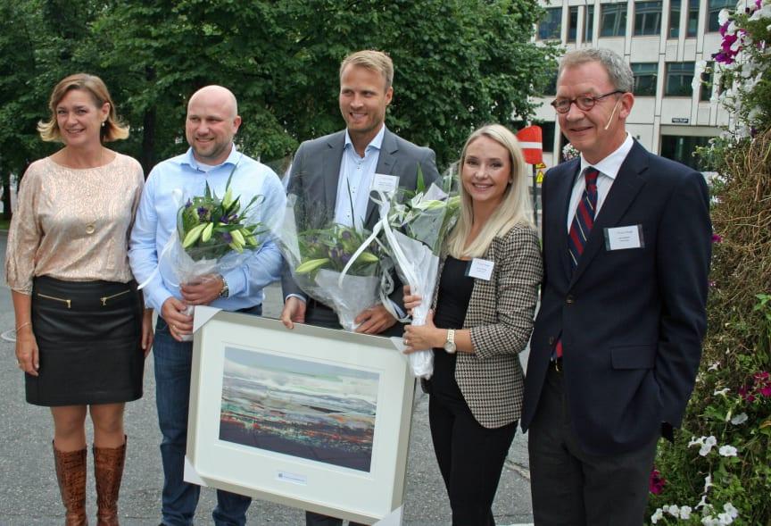 Vinnere av Finansstafetten. Foto Ragnar Falck, Sparebankbladet