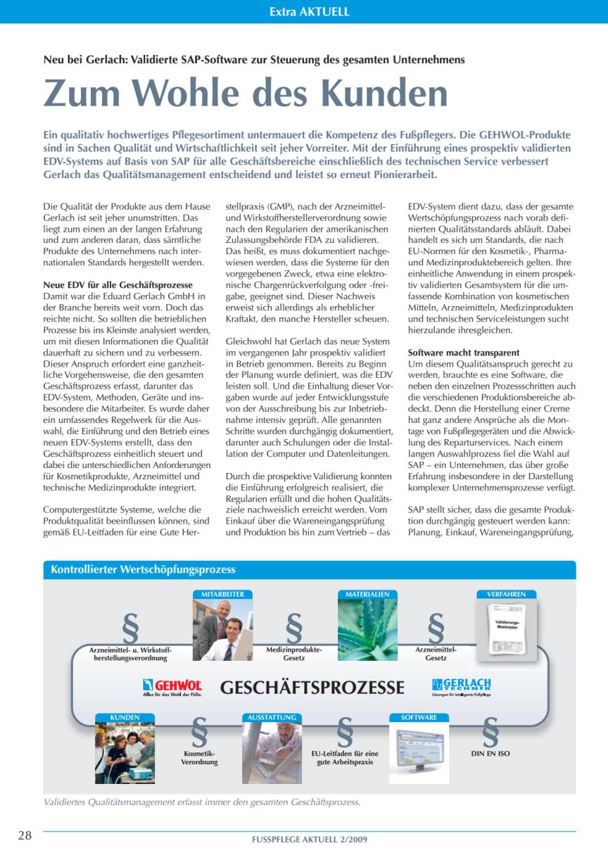 Zum Wohle des Kunden: Validierte SAP-Software zur Steuerung des gesamten Unternehmens