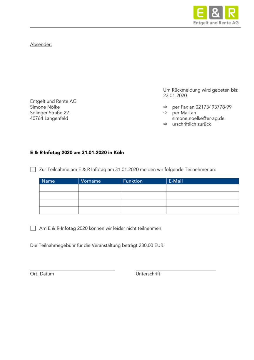 Antwortbogen E & R Infotag 2020