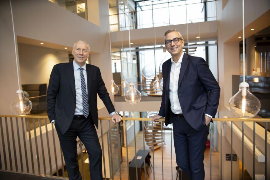 Kjell Rusti i Sopra Steria og Michael Jacobs i Atea Norge