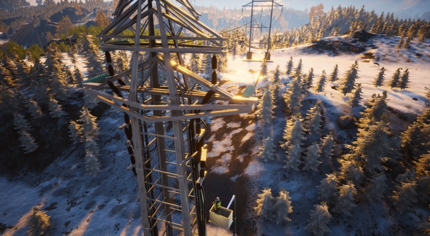 FSE høyspenning - Electri City vinterlandskap