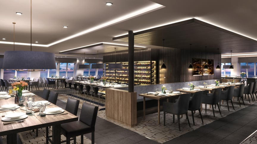Restaurant Aune MS Maud - photo credit Hurtigruten