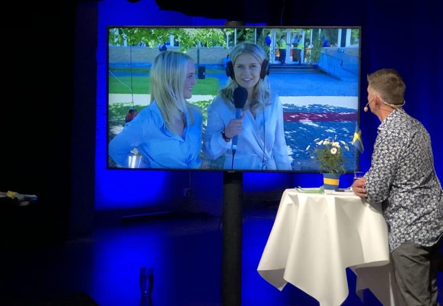 Intervju i direktsänd student Karlstads kommun
