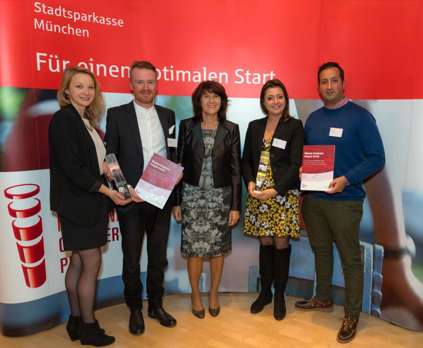 Die Gewinner des Münchner Gründerpreis 2017