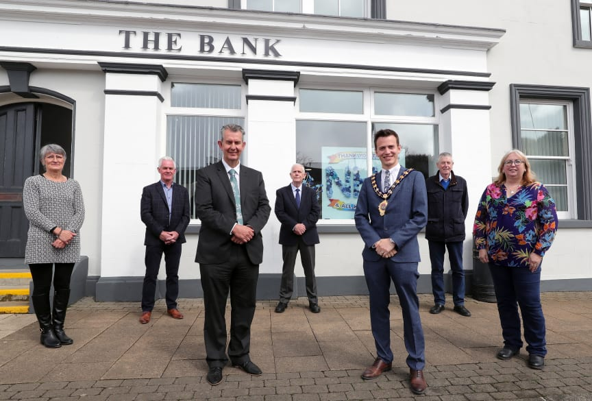 The Directors and staff of Portglenone Enterprise Group (PEG) welcomed  DEARA Minister Edwin Poots and Mayor of Mid and East Antrim, Councillor Peter Johnston to its community hub on Wednesday.