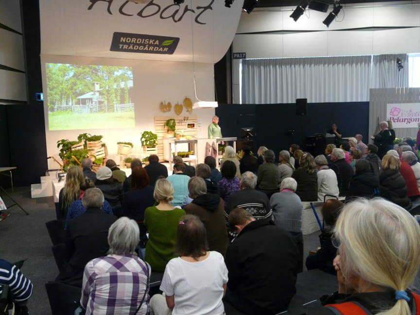 Föredrag på Trädgårdsmässan