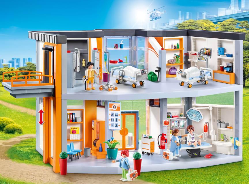 70190 großes krankenhaus mit einrichtung von playmobil