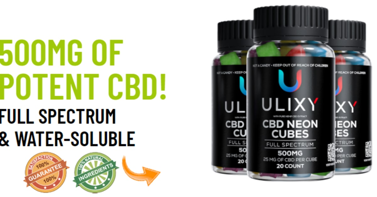 Ulixy CBD Neon Cubes Reviews & Complaints in USA: What is Price of Ulixy CBD Cubes 500MG?
