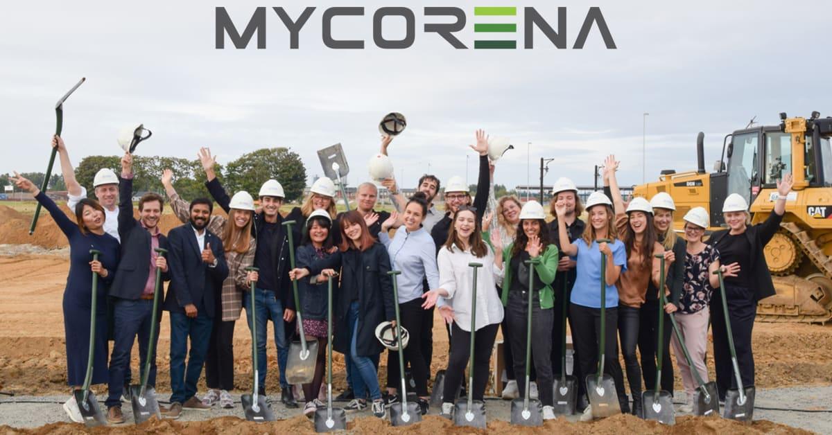 """Mycorena firar """"första spadtaget"""" till sin nya produktionsannläggning i Falkenberg!"""
