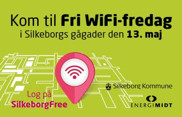 Silkeborg får gratis WiFi i midtbyen