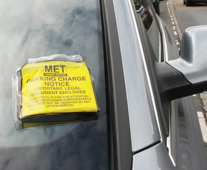 Met Parking Services >> Photo Of A Parking Fine Notice On A Car Windscreen The Rac Media