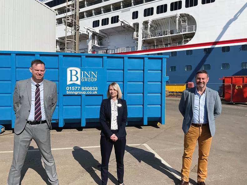 Fred. Olsen Cruise Lines achieves 'zero to landfill' for refurbishment of new ship Borealis with support from the Binn Group (July 2021)