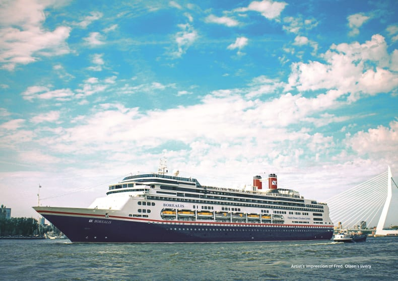 red. Olsen Cruise Lines announces revised 'back in service' date for new ship Borealis  (January 2021)