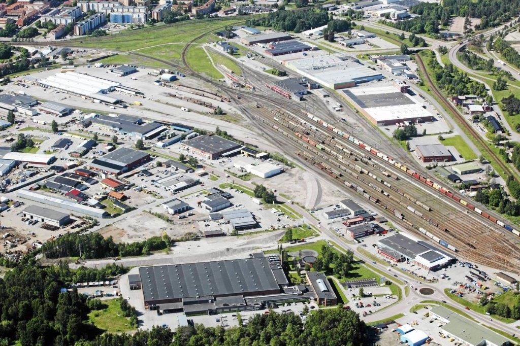 APM terminals inlandsterminal i Gävle. Foto APM terminals.
