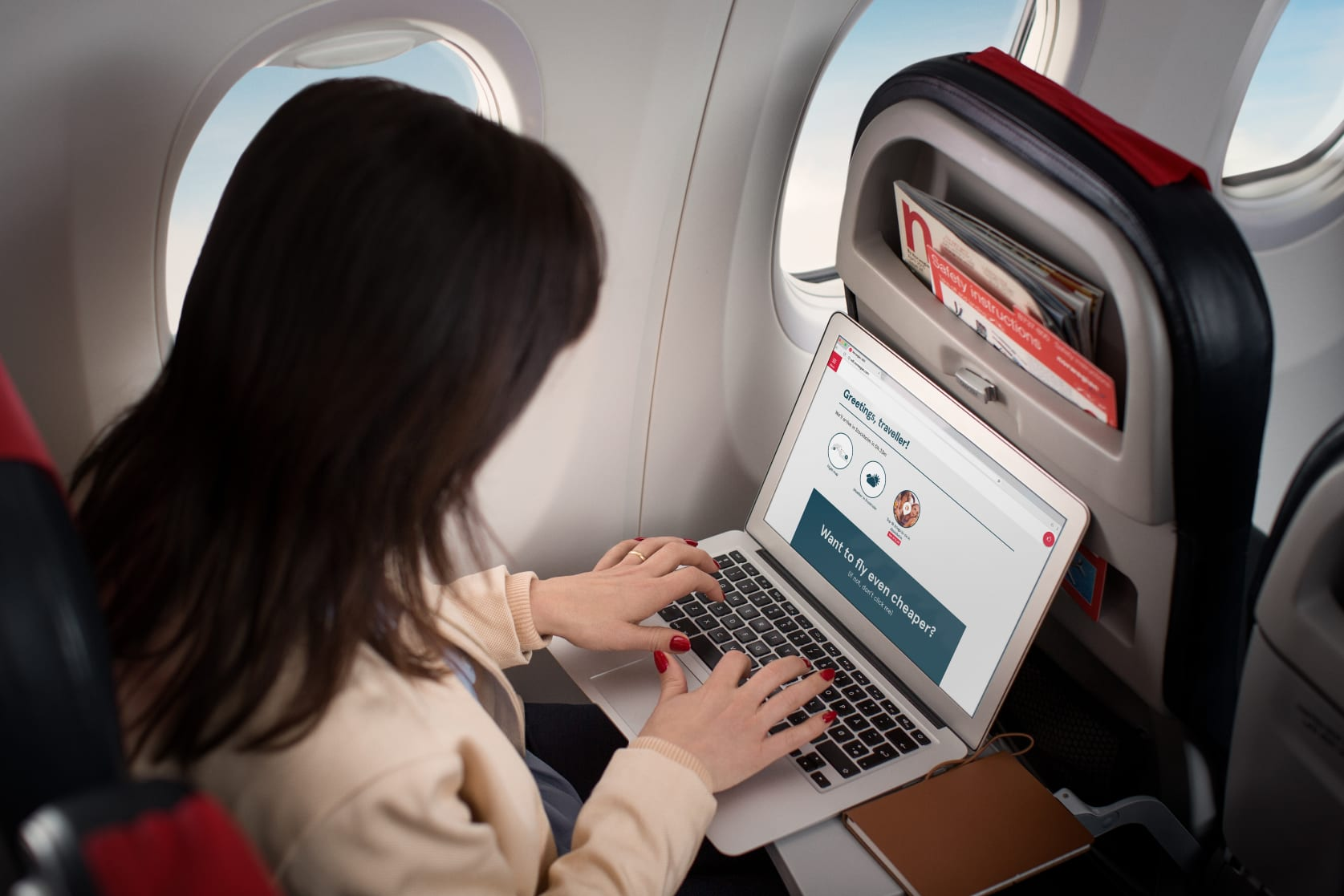 Wi-Fi abordo de Norwegian Air Argentina.