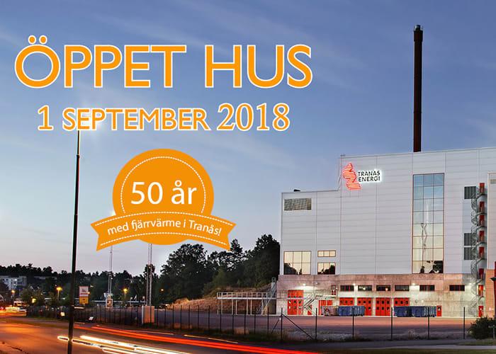 öppet hus 50 år 50 år med fjärrvärme i Tranås – välkommen på öppet hus!   Tranås  öppet hus 50 år