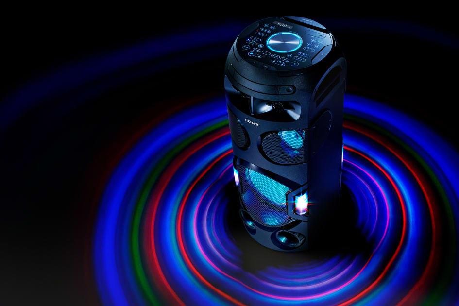 Välkända Sonys nya High Power Audio-högtalare för den bästa festupplevelsen NS-42