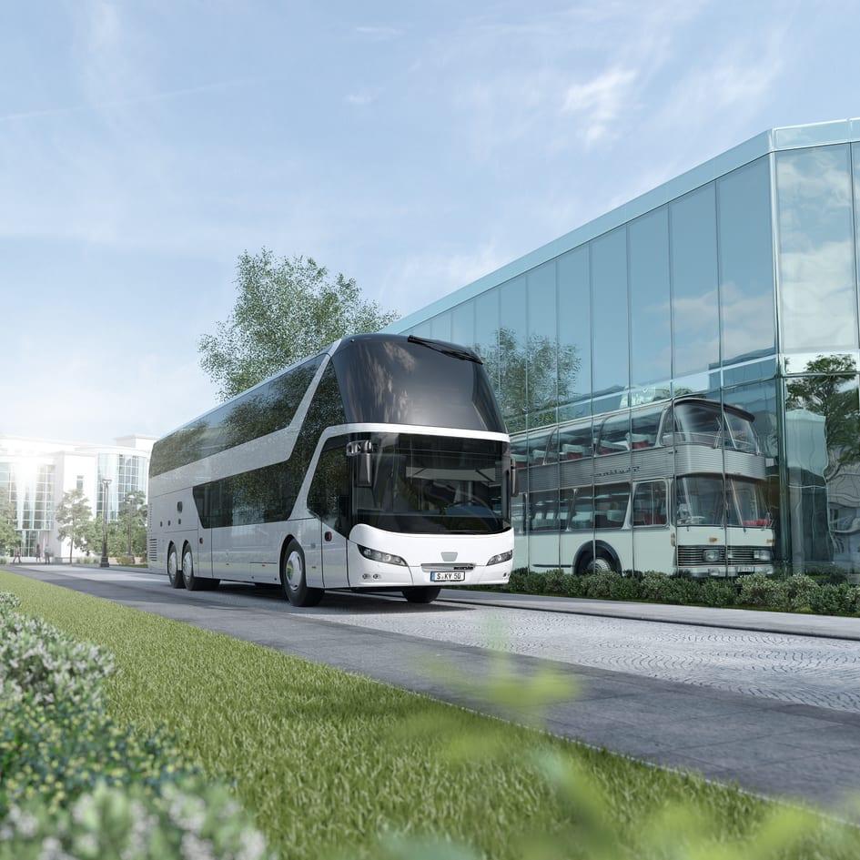 50 års bus NEOPLAN Skyliner fejrer 50 års jubilæum   MAN Truck & Bus Danmark A/S 50 års bus