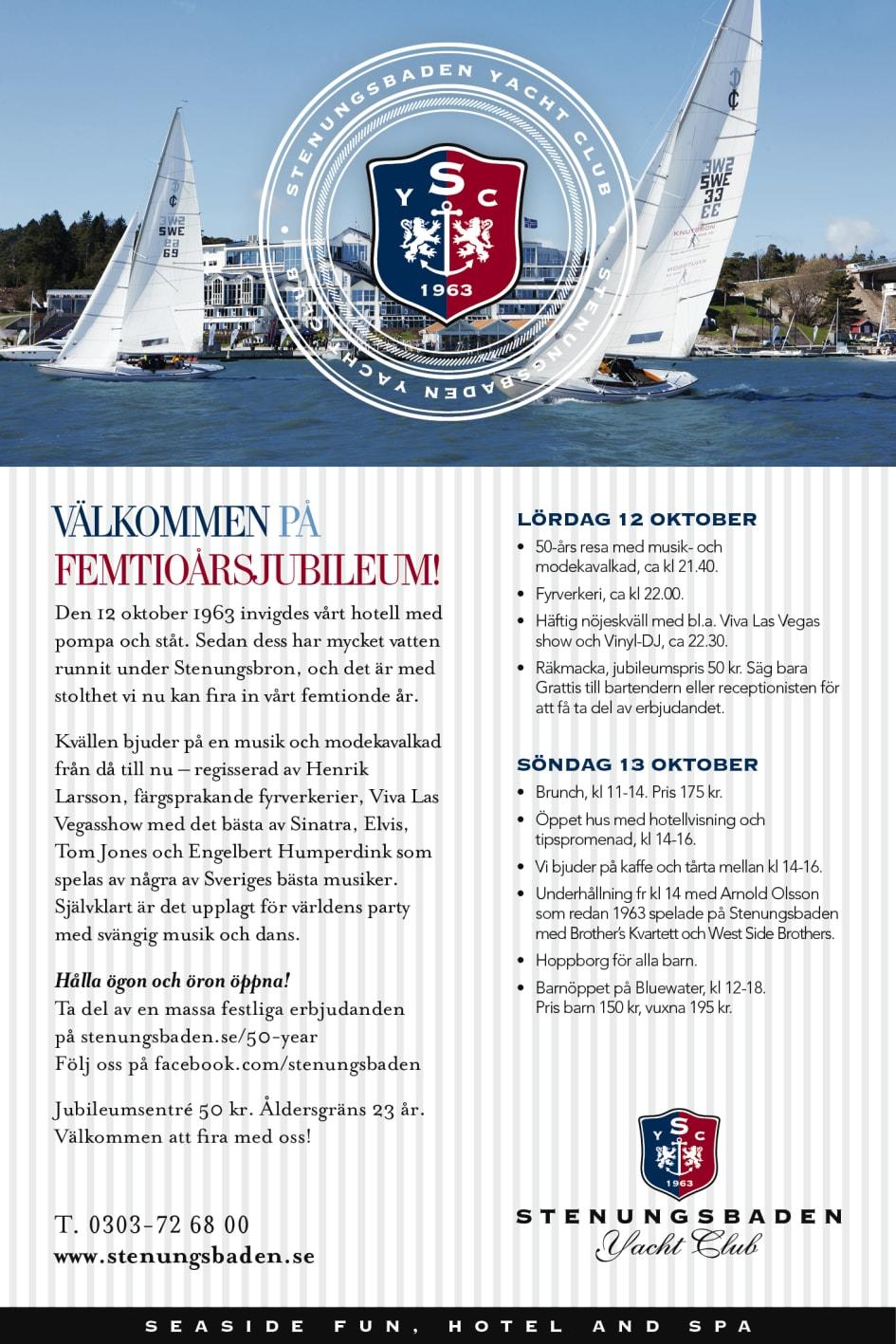 stenungsbaden 50 år Stenungsbaden Yacht Club, femtioårsjubileum   Stenungsbaden Yacht Club stenungsbaden 50 år