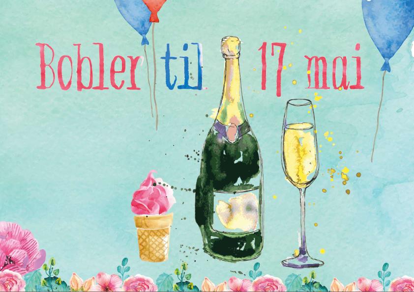 Bilderesultat for 17 mai champagne