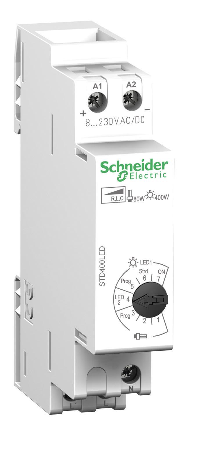 Godt Kompakt LED-lysdæmper til DIN-skinne - Schneider Electric Danmark JV41