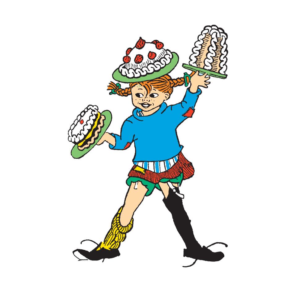 Pippi Långstrump med tårtor - Astrid Lindgren Aktiebolag