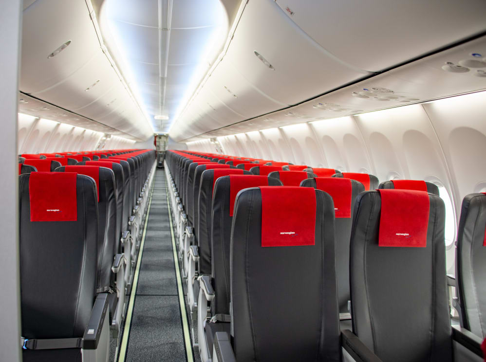 Norwegian introduces new slimline seats to transatlantic