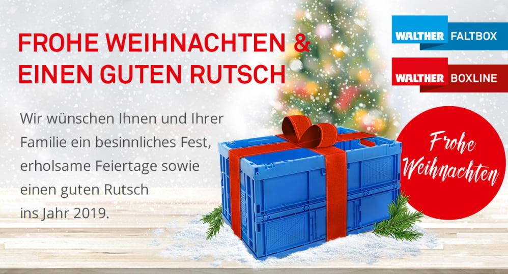 Wir Wünschen Euch Frohe Weihnachten Und Einen Guten Rutsch.Frohe Weihnachten Einen Guten Rutsch Ins Neue Jahr Walther