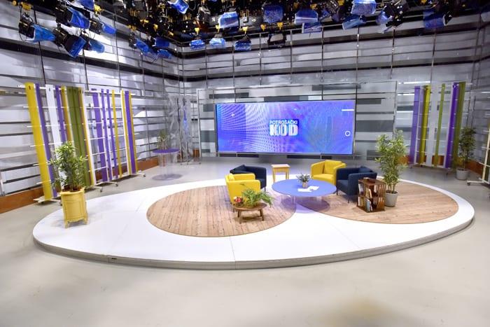 The new Croatian public channel HRT-HTV 5 displays its    - Eutelsat