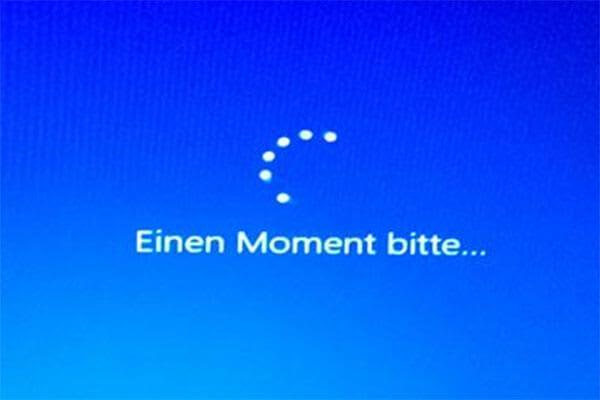 Windows 10 Einen Moment Bitte