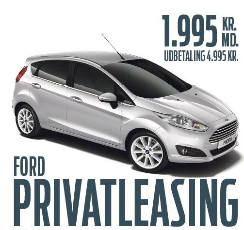 Privatleasing: Ford Fiesta til sensationel lav pris - Ford Motor Company