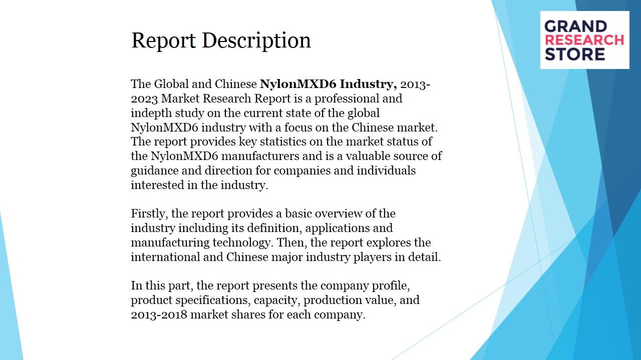 Nylon mxd6 industry market research report 2018