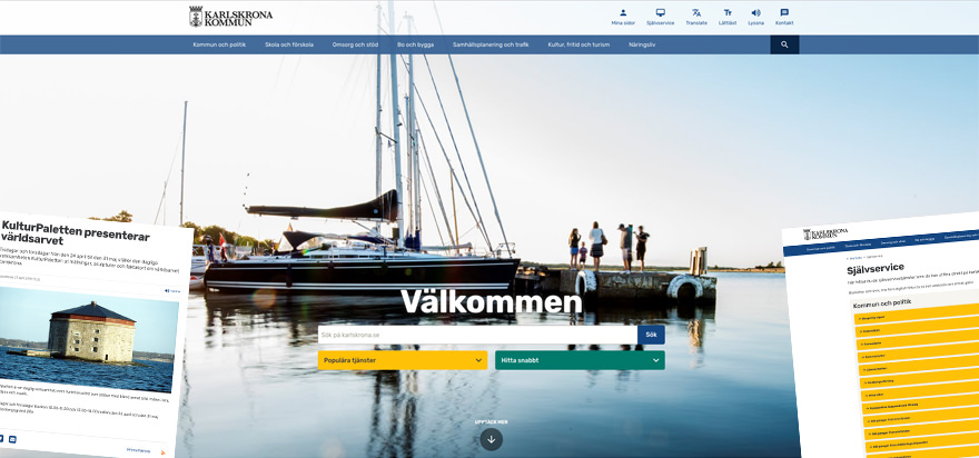 Sigma Launches A New Website For Karlskrona Municipality