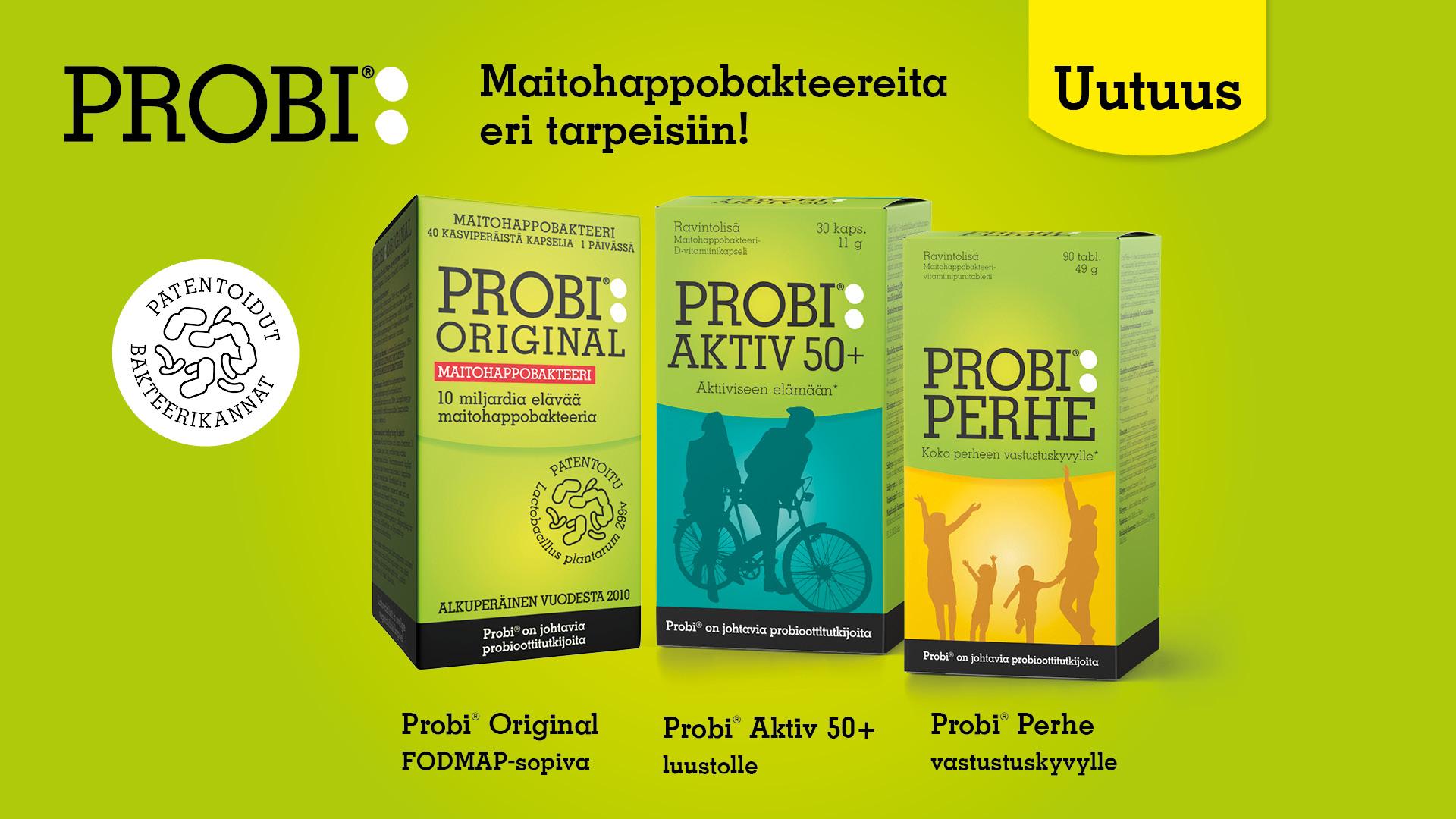 Patentoidut Probi-maitohappobakteerit nyt Suomessa!