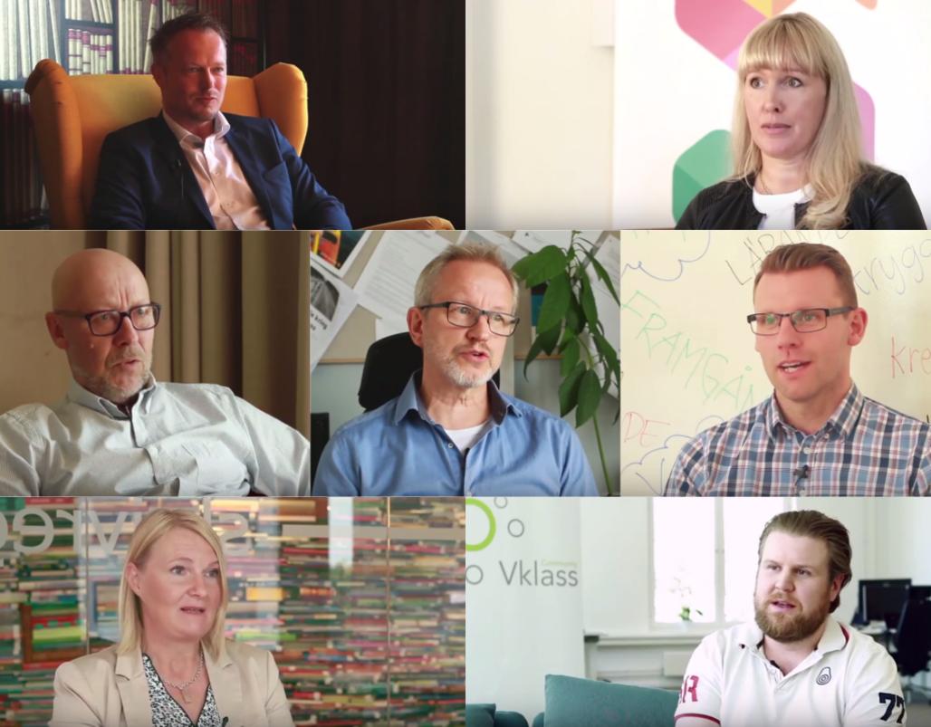 Några av Sveriges ledande aktörer i skolvärlden berättar om Skolon 1