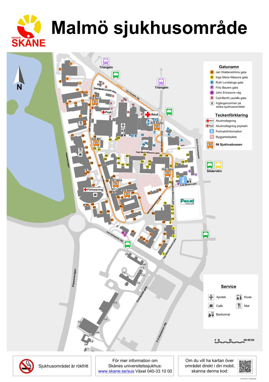 Sjukhusomradet Malmo Karta Karta 2020