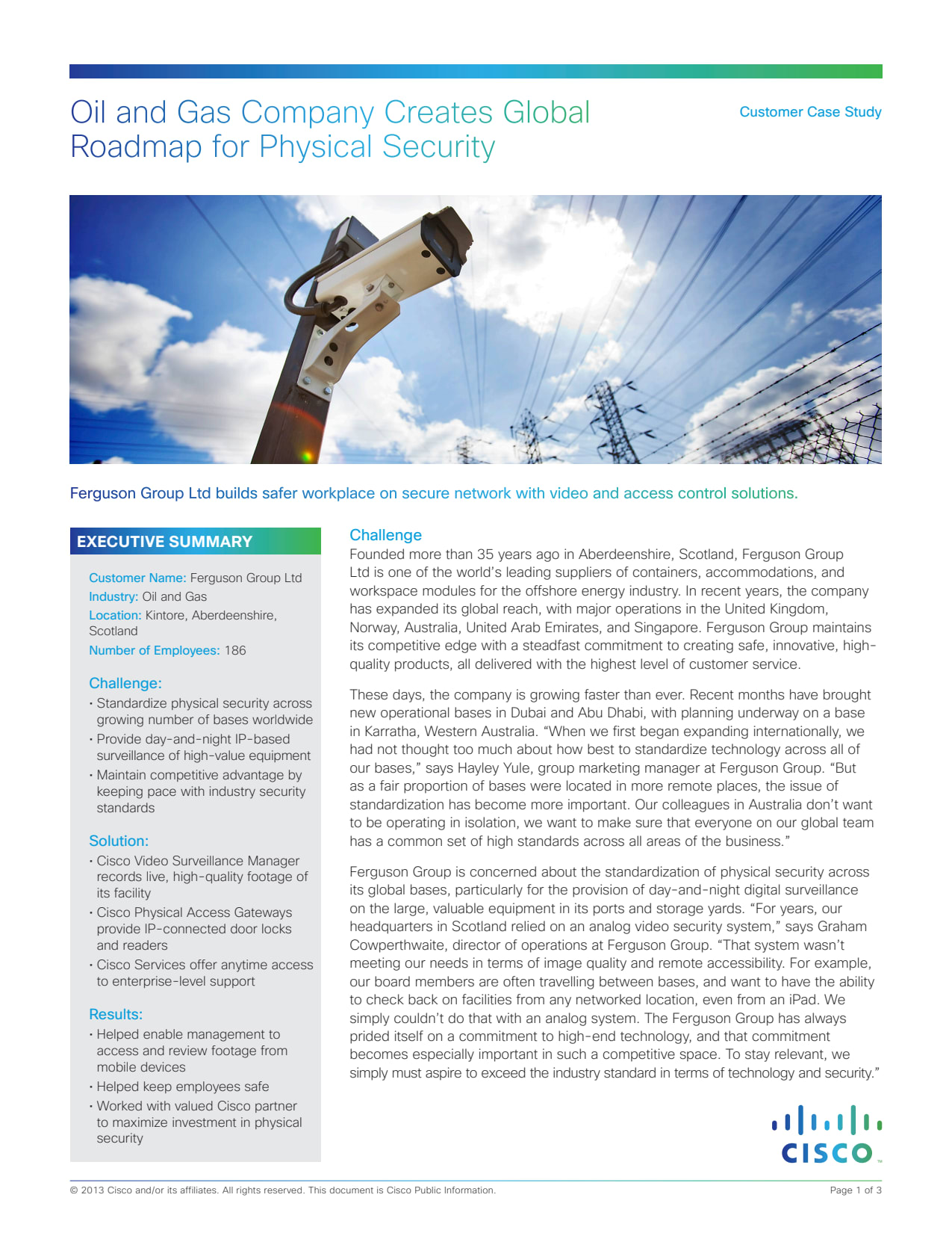 oil and gas company case study