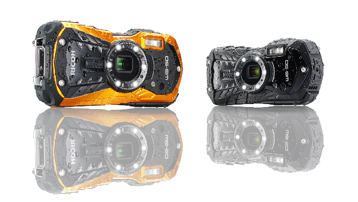 14-meter depth waterproof, from Ricoh