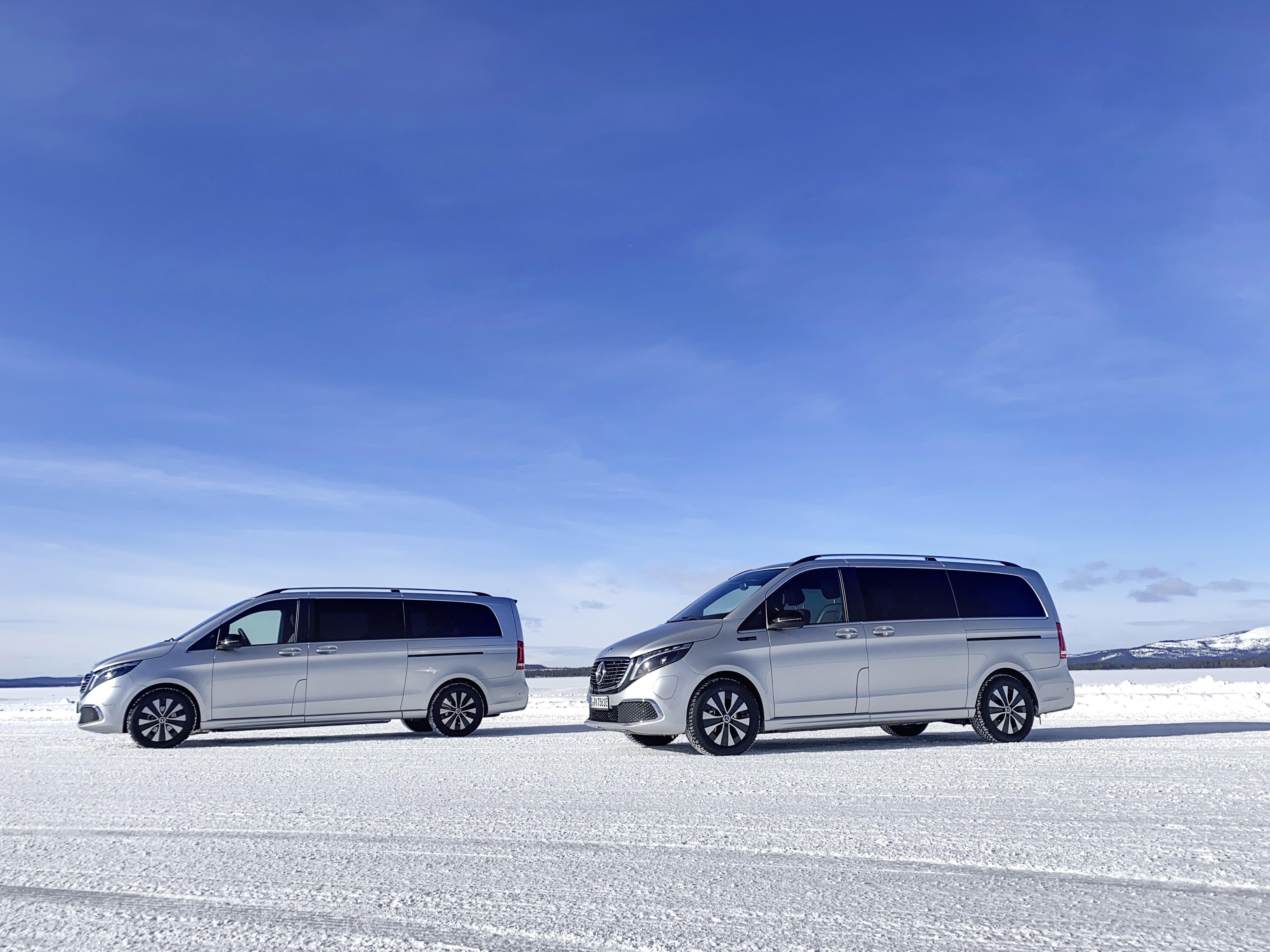 Mercedes-Benz 8-sitsiga elbil vintertestad i Sverige